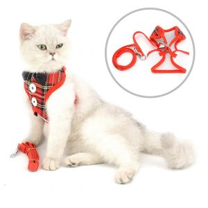 Chest Harness Rompi Fancy Bowtie Untuk Kucing dan Anjing